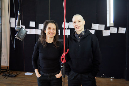 Jule Flierl and Irena Z. Tomažin in the PACT studio